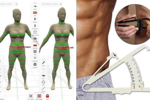 3D body scanners vs Body fat calipers