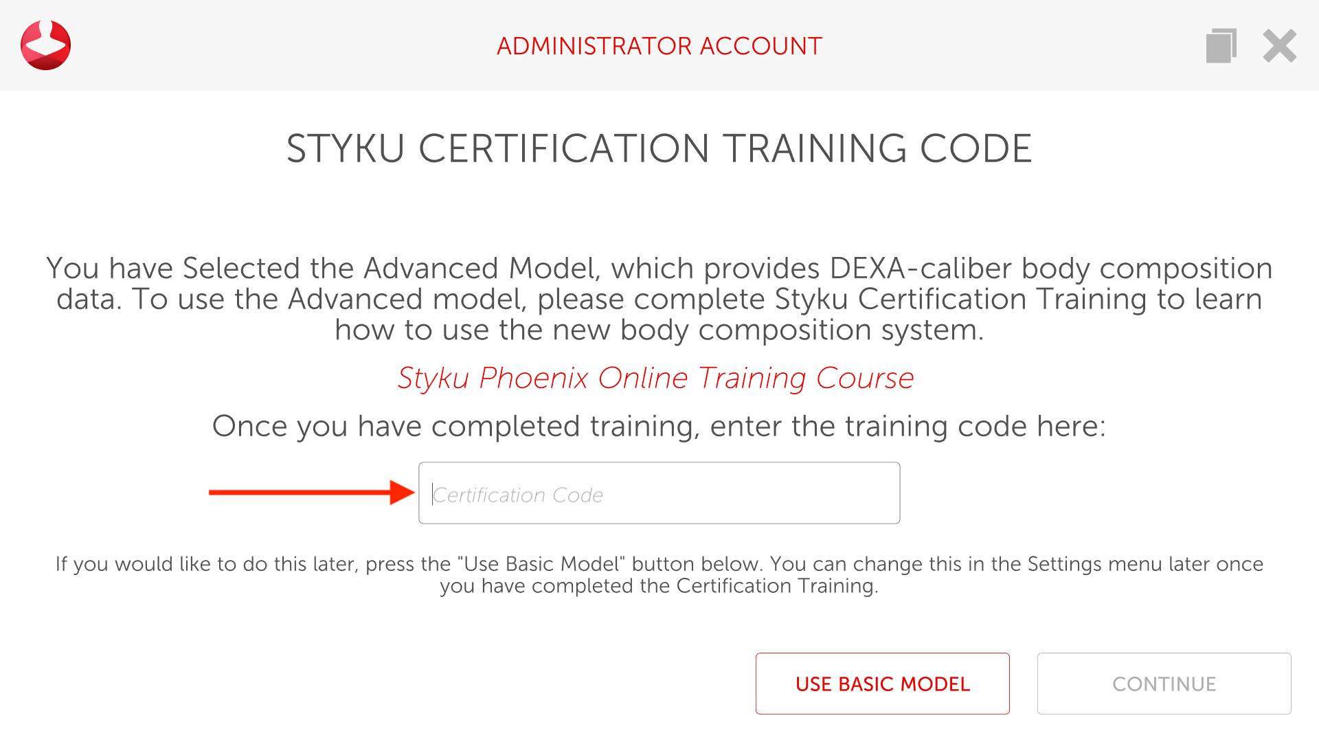Advanced model code