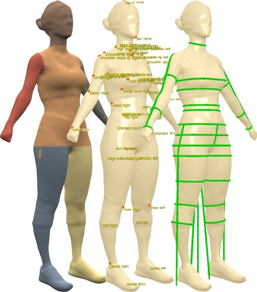 3d body measurements and visualization