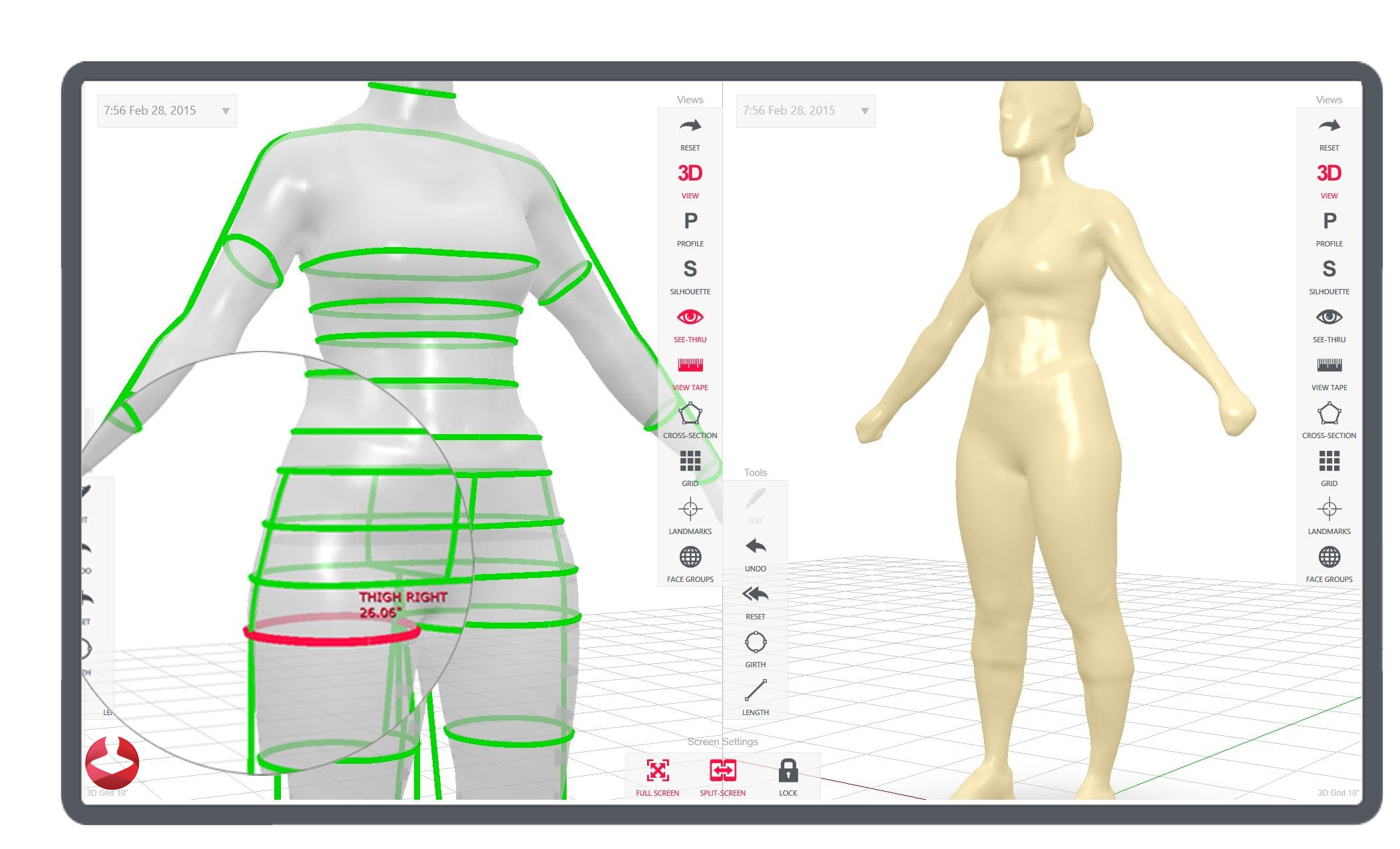 3d body composition and shape